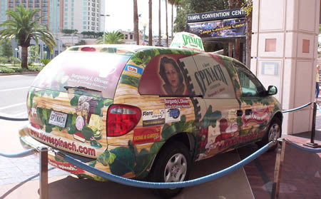 Spinach Mobile stantioned off