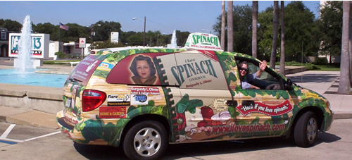 Spinach Mobile outside Fox 13