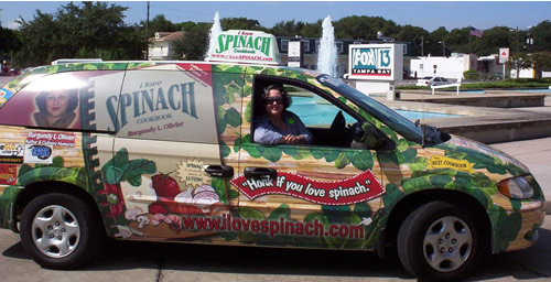 Spinach Mobile at TV station