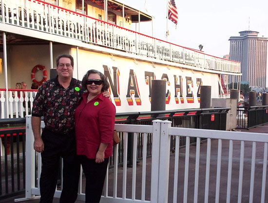 Al & Burgundy at the Steamboat Natchez